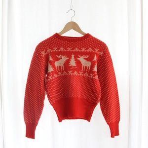 50s Vintage Wool Sweater Boys 8/10 Medium
